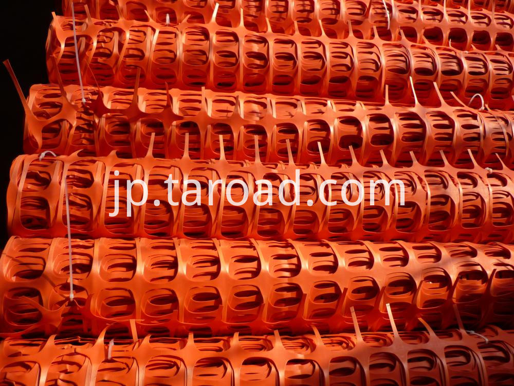 orange plastic safety mesh