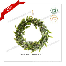 22′′ Decorative Plastic Christmas Wreath Christmas Decoration Glass Craft