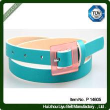 leather belts with plastic belt buckles popular designs pu belt