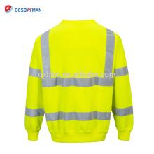 Hola Viz Crew Safety Sweatshirt Mens Visability Workwear Seguridad Fleece Jumper