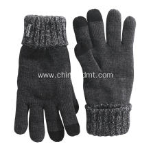 Men's thinsulate knitted touch gloves