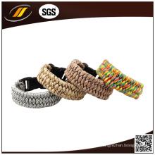 Personaliza o bracelete Paracord de cor com fivela de partida de fogo