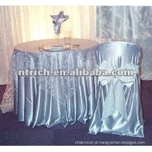 Tampas da cadeira do cetim, tampas da cadeira do hotel/banquete/casamento, faixa de cetim