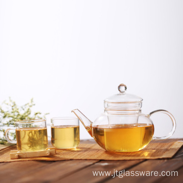 Coffee Tea Leaf Fire Resistant Glass Teapot