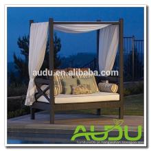Audu EUA Móveis Jardim Rattan Outdoor Bed