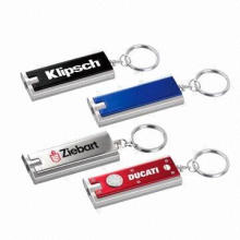 LED keychain, customized logo can be printed on keychain