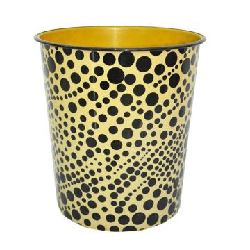 Boîte à ordures imprimée en plastique noir DOT (A23-828)