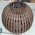 Chinesische Stil Bronze Rattan Laterne Fisch Beleuchtung Stehleuchte