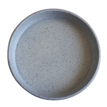 Black White Dots Round Deep Pizza Pan Tray