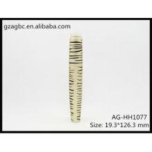 Moda & vazio do alumínio redondo tubo de rímel AG-HH1077, embalagens de cosméticos do AGPM, cores/logotipo personalizado