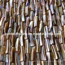 Azulejo iridiscente del mosaico de Shell del río (HMP72)