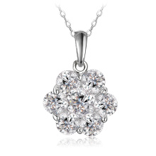 New Flower Cubic Zircon Pendant&Necklace Jewelry (CNL0214-B)