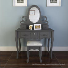 New designs wooden mirrored dressing table