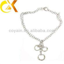 Collar de cadena larga de las mujeres de la plata de la joyería del acero inoxidable
