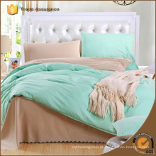 Qualidade hotal casa casa plana cor sólida cama folha edredon tampa conjuntos