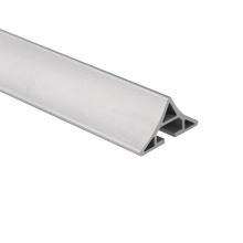 Perfis de alumínio de extrusão em pó de alumínio personalizados anodizados