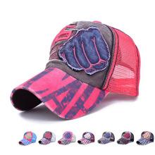 Mode-Baumwoll-Twill-Nylon-Mesh-Baseball-Mütze (YKY3013)