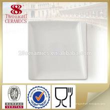Vaisselle d'hôtel plaine porcelaine blanche plats et plats en céramique bon marché