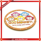 Colorful Rubber Embossed PVC Cartoon Label for Children Garment