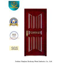 Безопасности стальные двери с резьбой по дереву для наружных (б-6009)