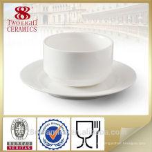 Placa y cuenco de cerámica al por mayor de la mano, sistema chino de la porcelana