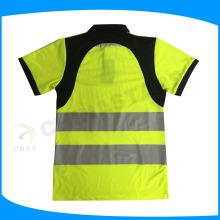 Hohe Sichtbarkeit cycilsit Sicherheitsarbeit Polo-Shirt