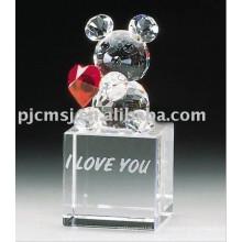 Nuevo diseño - Lovely Crystal Animal para Gifts.crystal animal 2015