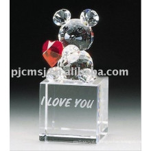 New Design - Lovely Crystal Animal for Gifts.crystal animal 2015