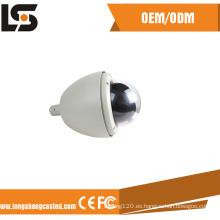 Caja de aluminio moldeada a presión de aluminio del fabricante de la carcasa de la cámara domo de vigilancia interior
