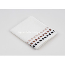 21s High Quality Yarn Dyed Greek Border Face Towels