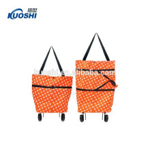 fancy foldable shopping trolley bag for vegetable