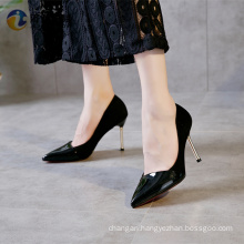Black cool ladies high heels private label shoes high heels