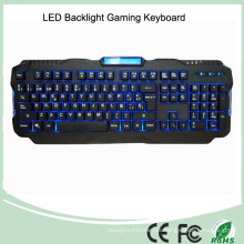 Versión en español Rojo / Púrpura / Azul Retroiluminación LED PRO Teclado de juego (KB-1901EL)