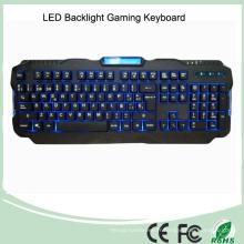 Version espagnole Rouge / violet / bleu Rétro-éclairage LED PRO Gaming Keyboard (KB-1901EL)