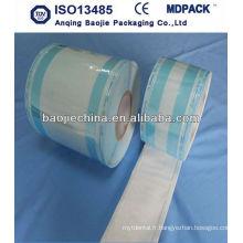 Papier plastique autoclave stérile / rouleau de poche de stérilisation tyvek