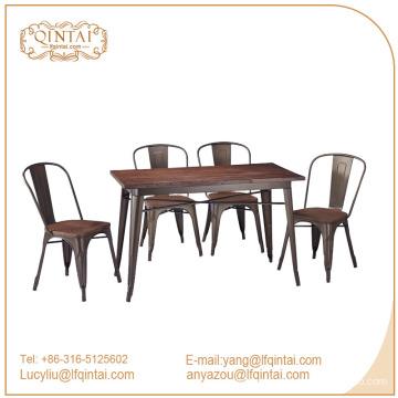 QinTai Furniture wood rectangle dining table fashion design