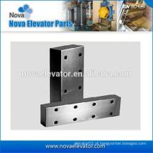 Componentes do eixo do elevador de Fishpalte para Rials de guia usinados, trilhos de guia puxados a frio & trilhos de guia ocos