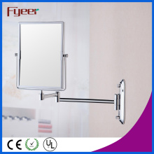 Fyeer Atractivo doble pared lateral de latón Rectángulo Vanity Mirror