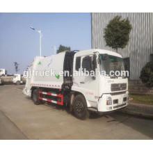 4 * 2 camión de basura sellado de Dongfeng / camión de basura del compactador de Dongfeng / camión de basura del compartimiento de Dongfeng / camión de basura de basura de Dongfeng