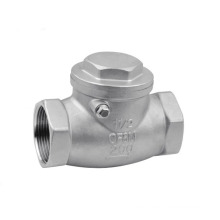 Stainless Steel Swing Check Valve Screw Ends 200wog