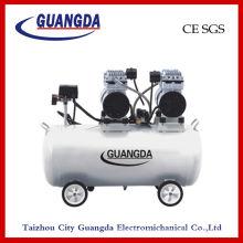 CE-SGS 70L 850W * 2 geräuschlos Öl-freie Luft-Kompressor