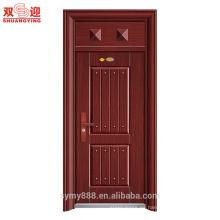 Precio de puerta de seguridad al por mayor de acero Precio de puerta de hotel anti robo con cabeza de la puerta
