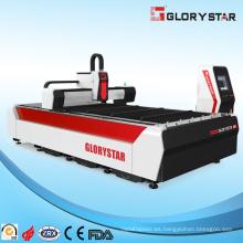 Máquina de corte por láser de fibra de metal con certificación CE de mantenimiento gratuito