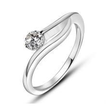 Jóia inoxidável da forma da estrela do anel da promessa do chapeamento da platina