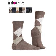 Miorre OEM Wholesale Men Plaid Cotton Socks