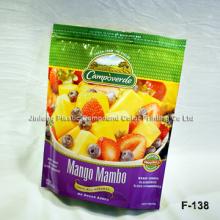 Упаковка и печать в стойку Пластиковая упаковка Многоразовая сумка для пищевых продуктов Пользовательский логотип