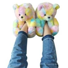 Women plush teddy bear house slippers comfortable indoor cute teddy bear slippers wholesale price