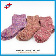 Зимняя пуховая пряжа хлопок девочек трубы нечеткой толстый носок для оптовых продаж