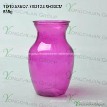 Jarrones de vidrio de forma redonda / jarrones de vidrio baratos / jarrones de promoción