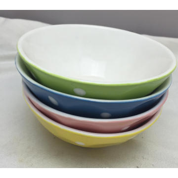 5.5′′glaze Porcelain Soup Bowl with Pinting